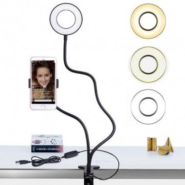 Держатель для телефона видеосьемки с подсветкой Professional Live Stream 24 светодиода Pro (dm243)