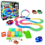 Гоночная трасса трек машинка гонки Magic Tracks 360 деталей Светящаяся Plus (dm239)