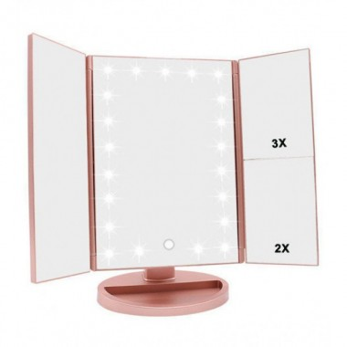 Зеркало для макияжа косметическое настольное Mirror Superstar Magnifying с Led подсветкой 22 светодиода Pro (dm288)