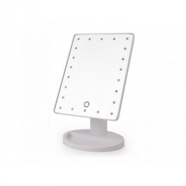 Зеркало для макияжа косметическое настольное Mirror Smart Touch LED 22 White Pro (dm292)