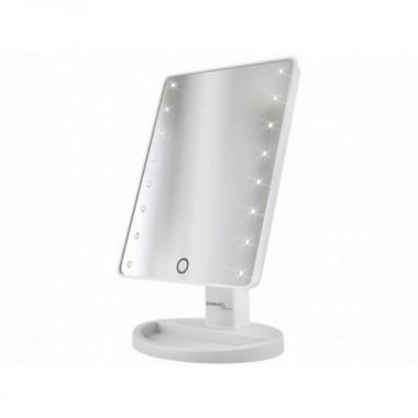 Зеркало для макияжа косметическое настольное Mirror Smart Touch LED 16 White Pro (dm290)