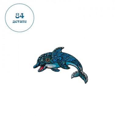 Пазл дерев'яний Дельфін розмір А4 деталі 84 Original (c202120222000)