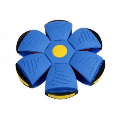 Мяч диск трансформер Phlat Ball летающая тарелка Blue New (dm430)