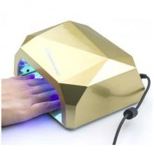 Лампа для ногтей Уфо Diamond S 36W Кристалл Gold Pro (dm823)