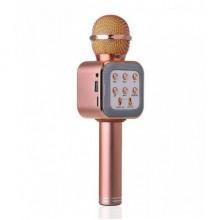 Беспроводной микрофон караоке колонка Wster WS-1818 Pink Bluetooth Plus (dm172)