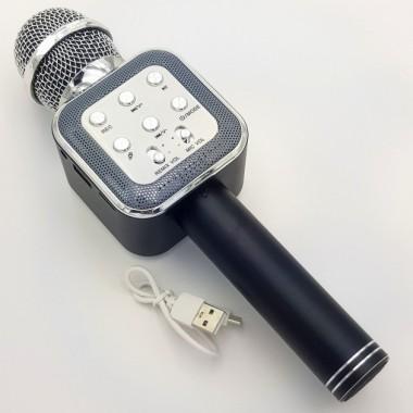 Беспроводной микрофон караоке колонка Wster WS-1818 Black Bluetooth Plus (dm170)