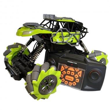 Машина на радиоуправлении трюковая вездеход Fever Buggy 4WD Езда боком под углом 90 градусов Зеленый Pro (dm795)