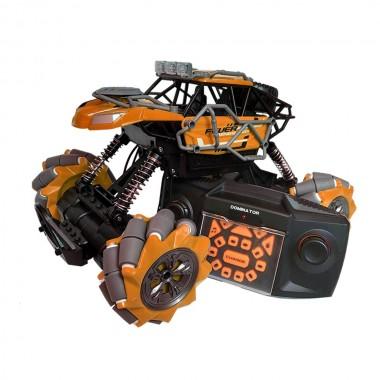 Машина на радиоуправлении трюковая вездеход Fever Buggy 4WD Езда боком под углом 90 градусов Оранжевый Pro (dm796)
