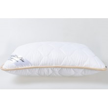 Подушка із вовни мериносів біла класична розмір 50х70