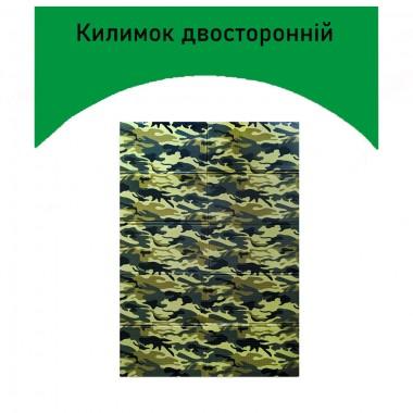 Килимок туристичний складаний Military 1500х2000х10 мм хакі Двосторонній Plus