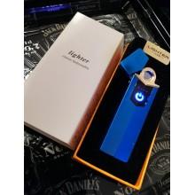 Электронная USB зажигалка KSP Синяя