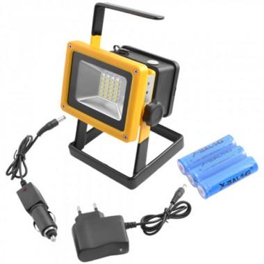 Фонарь ручной прожектор переносной Bailong BL-204 с аккумулятором Pro (dm632)
