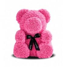 Игрушка мишка KSP Bear 25 см из роз Розовый с лентой Pro (dm408)