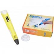 3D ручка KSP 3DPEN-2 c LCD дисплеем и набором пластика Желтая Plus (dm105)