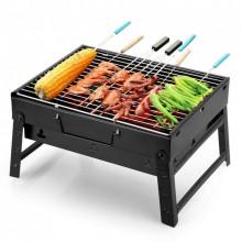 Мангал раскладной портативный BBQ Grill Portable 3в1 барбекю гриль кемпинг Pro (dm376)