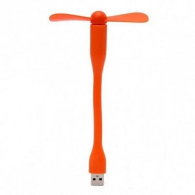 Портативный гибкий USB вентилятор KSP Оранжевый
