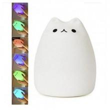 Ночник LED светильник KSP Sleep Lamp Силиконовый котик 7 режимов Plus (dm475)