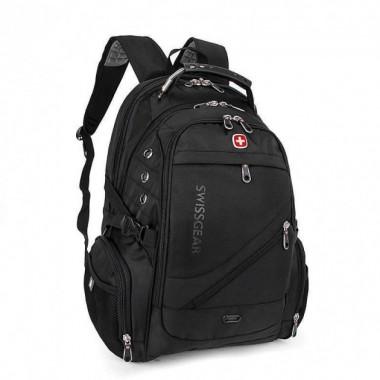 Рюкзак стильный городской Swissgear Bag 8810 c ортопедической спинкой система Airflow Black Plus (dm758)