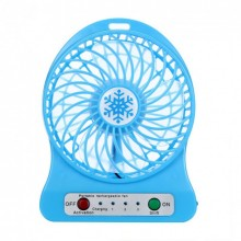 Вентилятор настольный беспроводной портативный KSP мини USB Синий Pro (dm493)