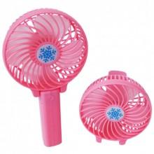 Вентилятор ручной переносной мини KSP 2 режима Розовый Pro (dm665)
