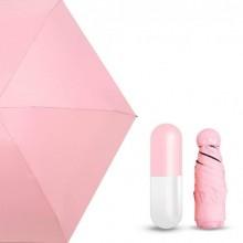 Зонт складной в капсуле мини Umbrella Capsule mini Розовый Plus (dm401)