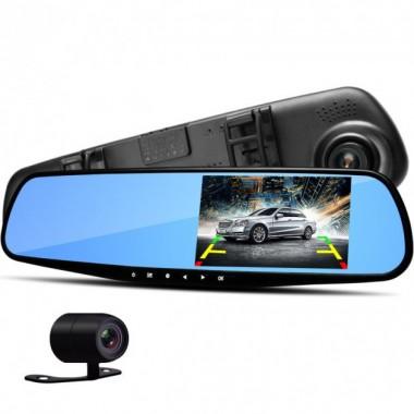 Видеорегистратор автомобильный Зеркало заднего вида DVR Vehicle Blackbox c 2 камерами Pro (dm231)
