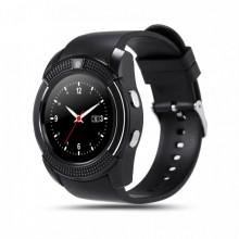 Смарт часы наручные Smart Watch V8 3в1 Black Plus (dm726)