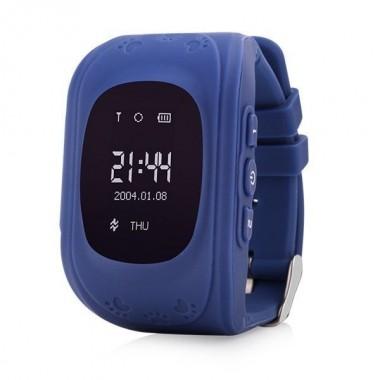 Смарт часы наручные детские Smart Watch Q50 OLED с датчиком передвижения Dark Blue Pro (dm711)