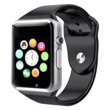Смарт часы наручные Smart Watch A1 с микрофоном Black Plus (dm691)