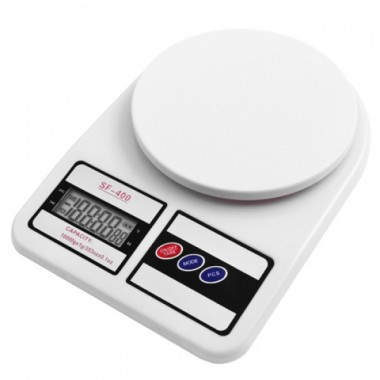 Весы кухонные электронные Kitchen SF-400 7кг Белые Pro (dm218)