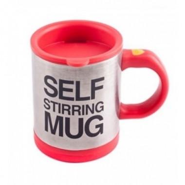 Чашка автоматическая мешалка кружка Self Stirring Mug 350 мм Red Pro (dm357)