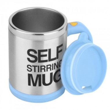 Чашка автоматическая мешалка кружка Self Stirring Mug 350 мм Blue Pro (dm355)