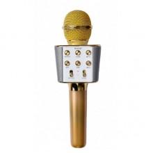 Беспроводной микрофон караоке колонка Wster WS-1688 Gold Bluetooth Plus (dm394)