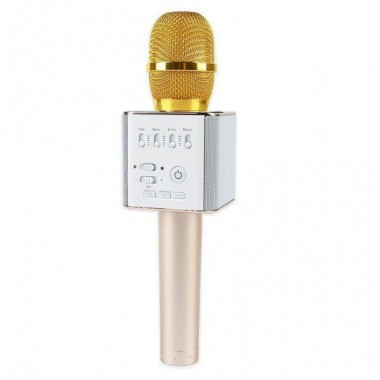 Беспроводной микрофон караоке колонка MicGeek Q9 с чехлом эффект эхо Gold Plus (dm609)