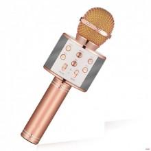 Беспроводной микрофон караоке MicGeek WS-858A Pink Bluetooth Plus (dm169)