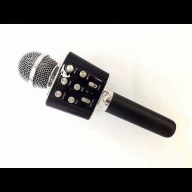 Беспроводной микрофон караоке колонка Wster WS-1688 Black Bluetooth Plus (dm393)
