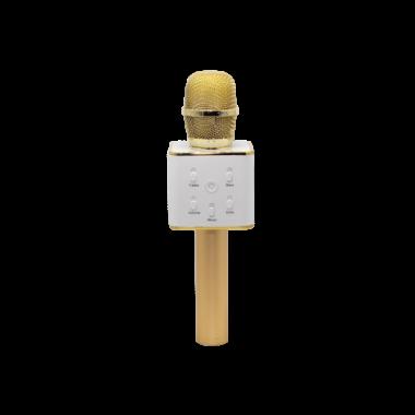 Беспроводной микрофон караоке KSP Q7 с динамиками в чехле Bluetooth USB Gold Plus (dm166)
