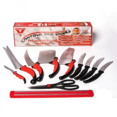 Набор ножей кухонных Pro V Contour Pro Knives Контур про магнитная рейка 10 предметов Pluc (dm442)
