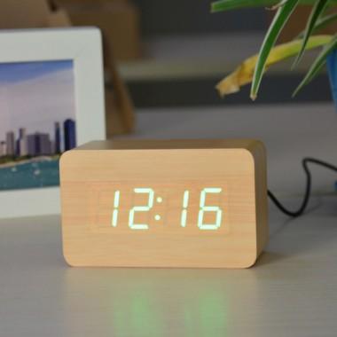 Часы настольные электронные VST 863-5 будильник термометр Коричневый Pro (dm889)