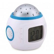 Часы будильник музыкальные с  термометром UKC  проектор Звездное небо Pro (op135)