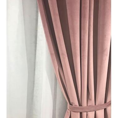 Комплект штор Natalka Альтамира 140х260 2шт с подхватами Розовый Pro (20202007)