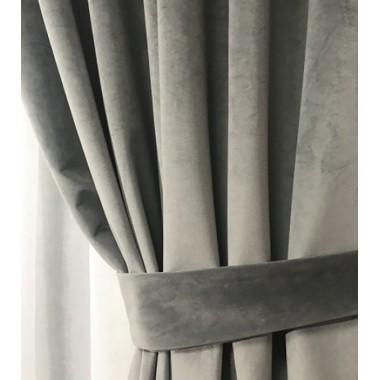 Комплект штор Natalka Фантазия 140х260 2шт с подхватами Серый Pro (20202036)
