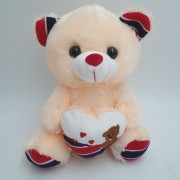 Ведмедик іграшка м'яка світиться плюшевий 22 см Бежевий Original