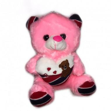М'яка іграшка ведмедик світиться плюшевий 22 см Рожевий Original