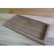 Большая тарелка деревянная с выборкой 170х320 мм Eripro Croutons ясень прямоугольный Original (20201002)