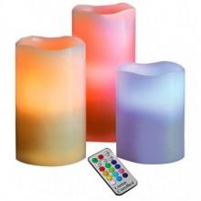 Ночник светодиодные свечи декоративный 3D с пультом Luma LED Scented candle 12 цветов хамелеон Pro (tx474)