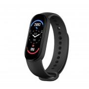 Фітнес браслет Smart Band М6 Чорний вимірювання тиску пульсу кисню GPS Plus