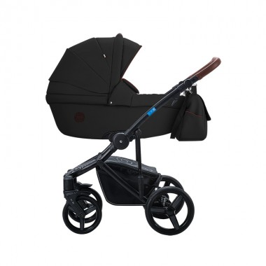 Дитяча коляска 2 в 1 трансформер Aroteam BARTOLO PRIMA екошкіра Black Original